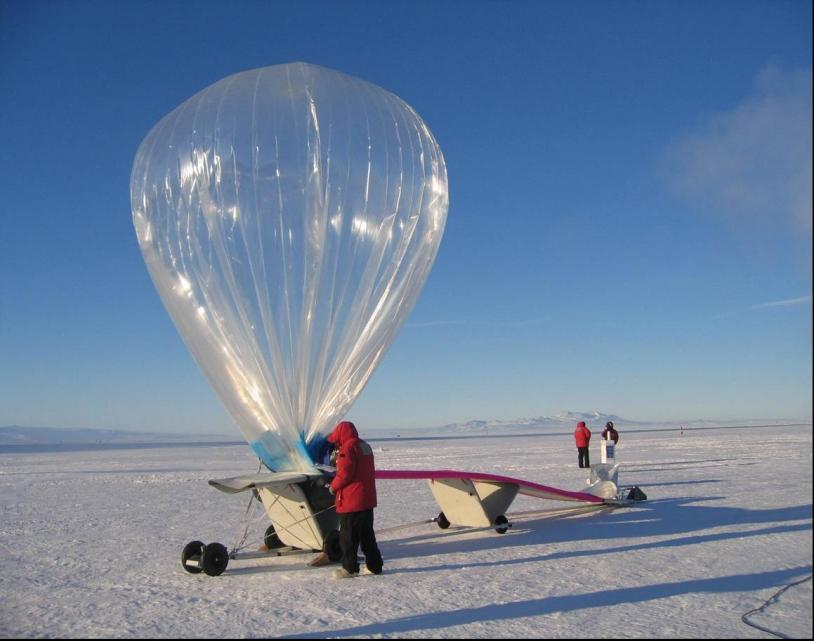 Le ballon pressurisé stratosphérique. Crédits : CNES.